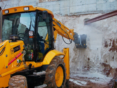 Cold planers for mini excavators, backhoe loaders and excavators