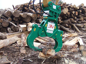 Rotary 360º wood splitter