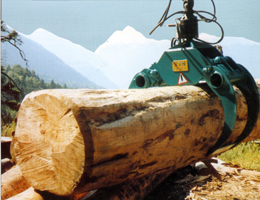 Log clamps - Backhoe mounted